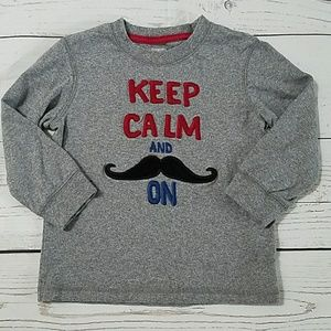 Gymboree 2t mustache shirt